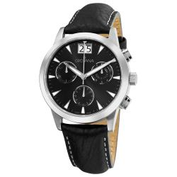 Grovana Men's Black Chronograph Dial Quartz Watch