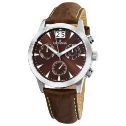 Grovana Men's 1722.9536 Brown Chronograph Dial Quartz Watch