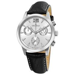 Grovana Men's Silver Chronograph Dial Quartz Watch