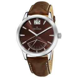 Grovana Men's 1722.1536 'Day Retrograde' Brown Dial Watch