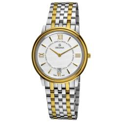 Grovana Men's Stainless Steel Two Tone Bracelet Watch