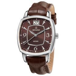 Grovana Men's 1719.1536 Brown Dial Quartz Watch