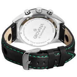 Grovana Men's 1620.9575 Black Retrograde Chronograph Dial Quartz Watch