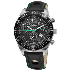 Grovana Men's Black Retrograde Chronograph Dial Quartz Watch