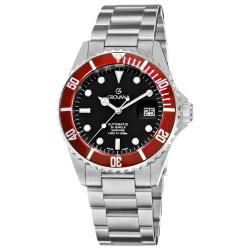 Grovana Men's 1571.2136 'Diver' Black Dial Red Bezel Automatic Watch