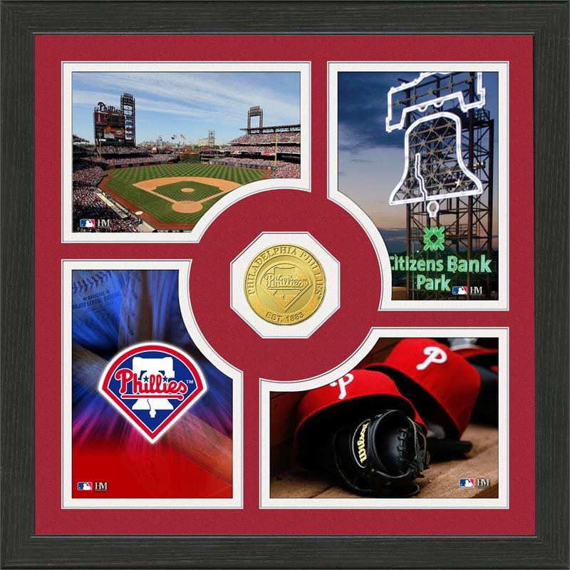 Highland Mint Philadelphia Phillies 'Fan Memories' Minted Coin Photo Frame