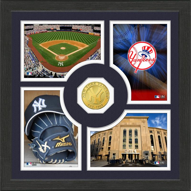 Highland Mint New York Yankees 'Fan Memories' Minted Coin Photo Frame