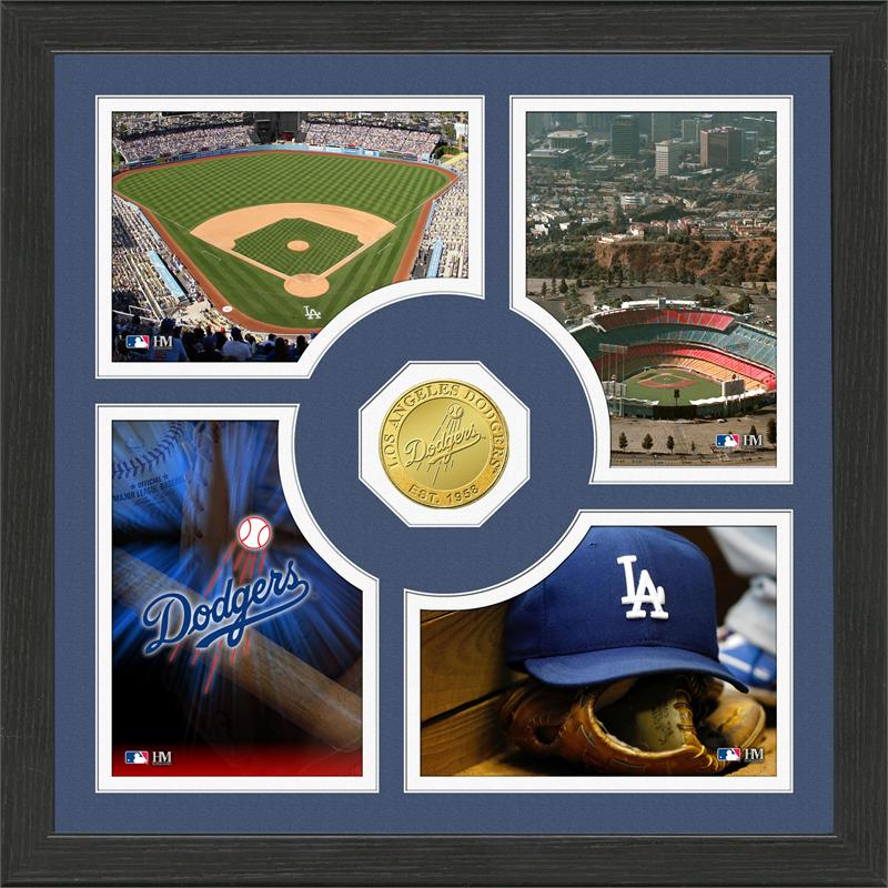Highland Mint Los Angeles Dodgers 'Fan Memories' Minted Coin Photo Frame