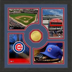Highland Mint Chicago Cubs 'Fan Memories' Minted Coin Photo Frame