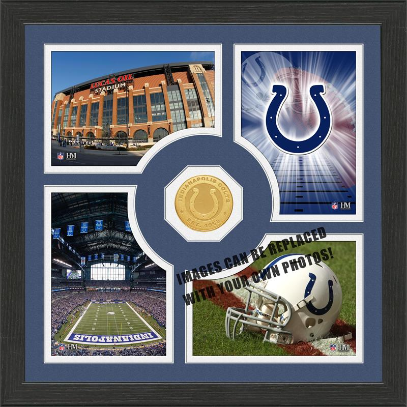 Highland Mint Indianapolis Colts 'Fan Memories' Minted Coin Photo Frame