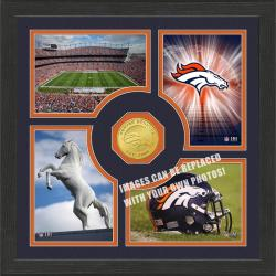 Highland Mint Denver Broncos 'Fan Memories' Minted Coin Photo Frame