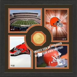 Highland Mint Cleveland Browns 'Fan Memories' Minted Coin Photo Frame