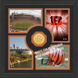 Highland Mint Cincinnati Bengals 'Fan Memories' Minted Coin Photo Frame