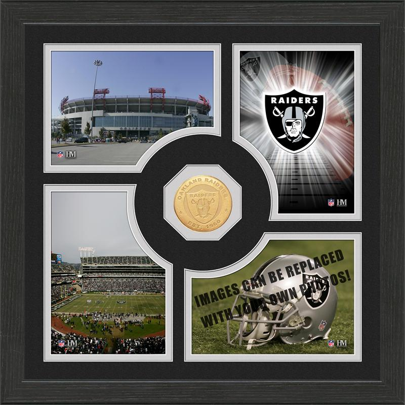 Highland Mint Oakland Raiders 'Fan Memories' Minted Coin Photo Frame
