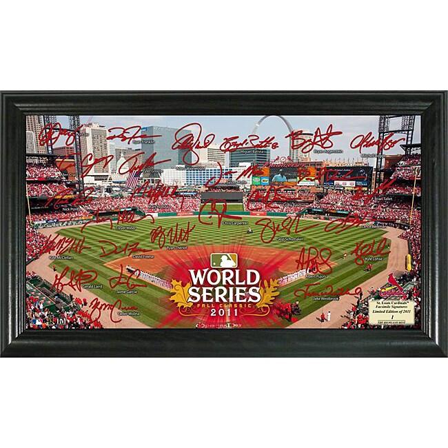 Highland Mint 2011 World Series St. Louis Cardinals Field Signature Framed Photo