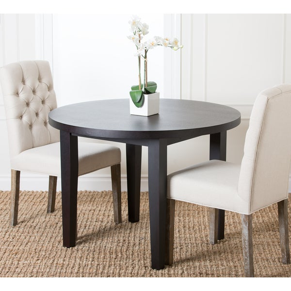 Abbyson Living Casablanca 42-inch Round Espresso Dining Table