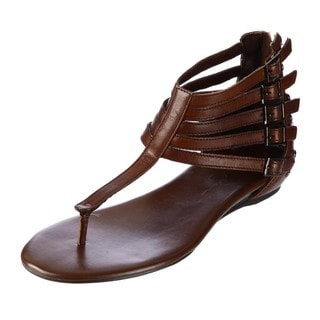 Jessica Simpson Women's 'Danson' Brown Leather Sandals
