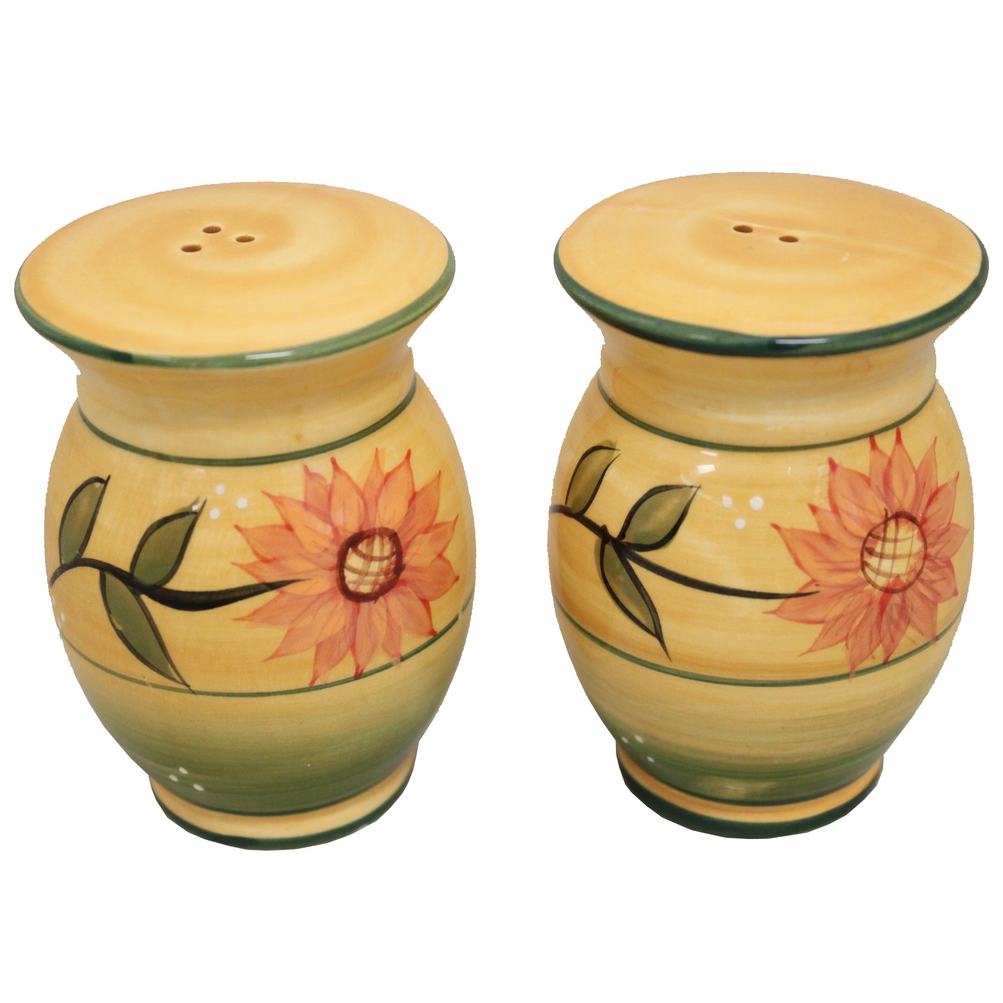 Sunflower Garden Collection Deluxe Handcrafted Salt and Pepper Shaker Set