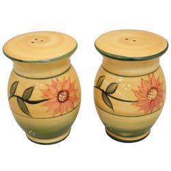 Sunflower Garden Collection Deluxe Handcrafted Salt and Pepper Shaker Set