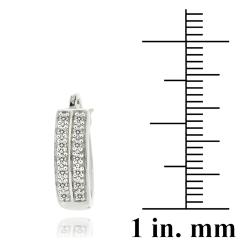DB Designs Sterling Silver 1/4ct TDW Diamond Cuff Earrings (J, I3)