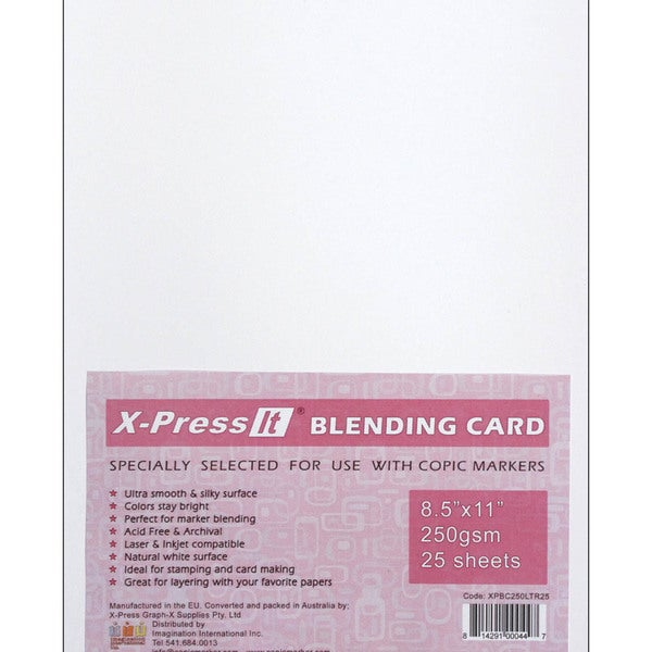 Copic Markers X-Press White Blending Cards (Pack of 25)