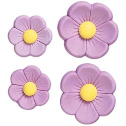 Wilton 'Purple Posy' Icing Decorations