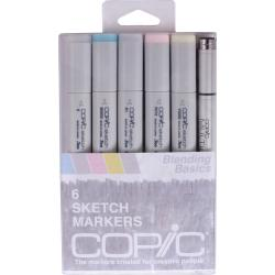 Copic Markers 'Blending Basics' Sketch Marker and Multi-Liner Pen (Pack of 6)