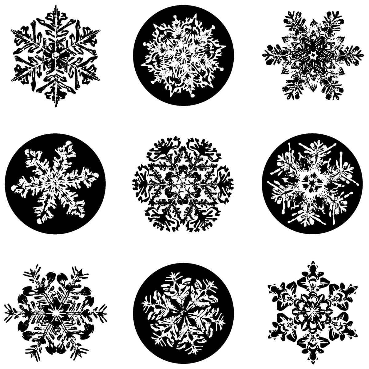 Inkadinkado Christmas Snowflkes Inchie Clear Stamp