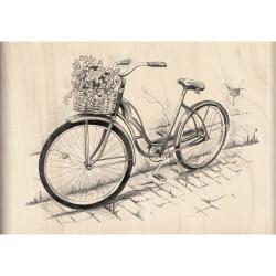 Inkadinkado Mounted Bicycle Rubber Stamp