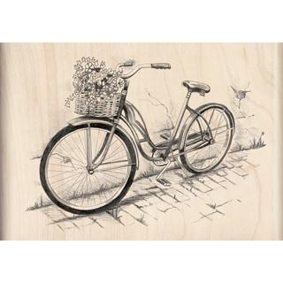 Inkadinkado Mounted Bicycle Rubber Stamp