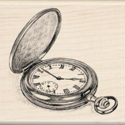 Inkadinkado Mounted Pocket Watch Rubber Stamp