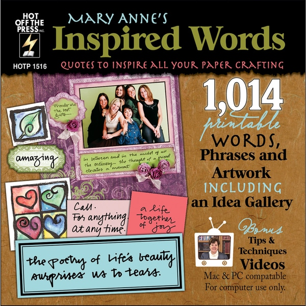 Mary Anne's Inspired Words Collection CD