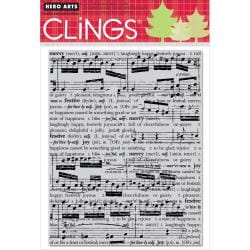 Hero Arts 'Collage Music Background' Cling Stamps