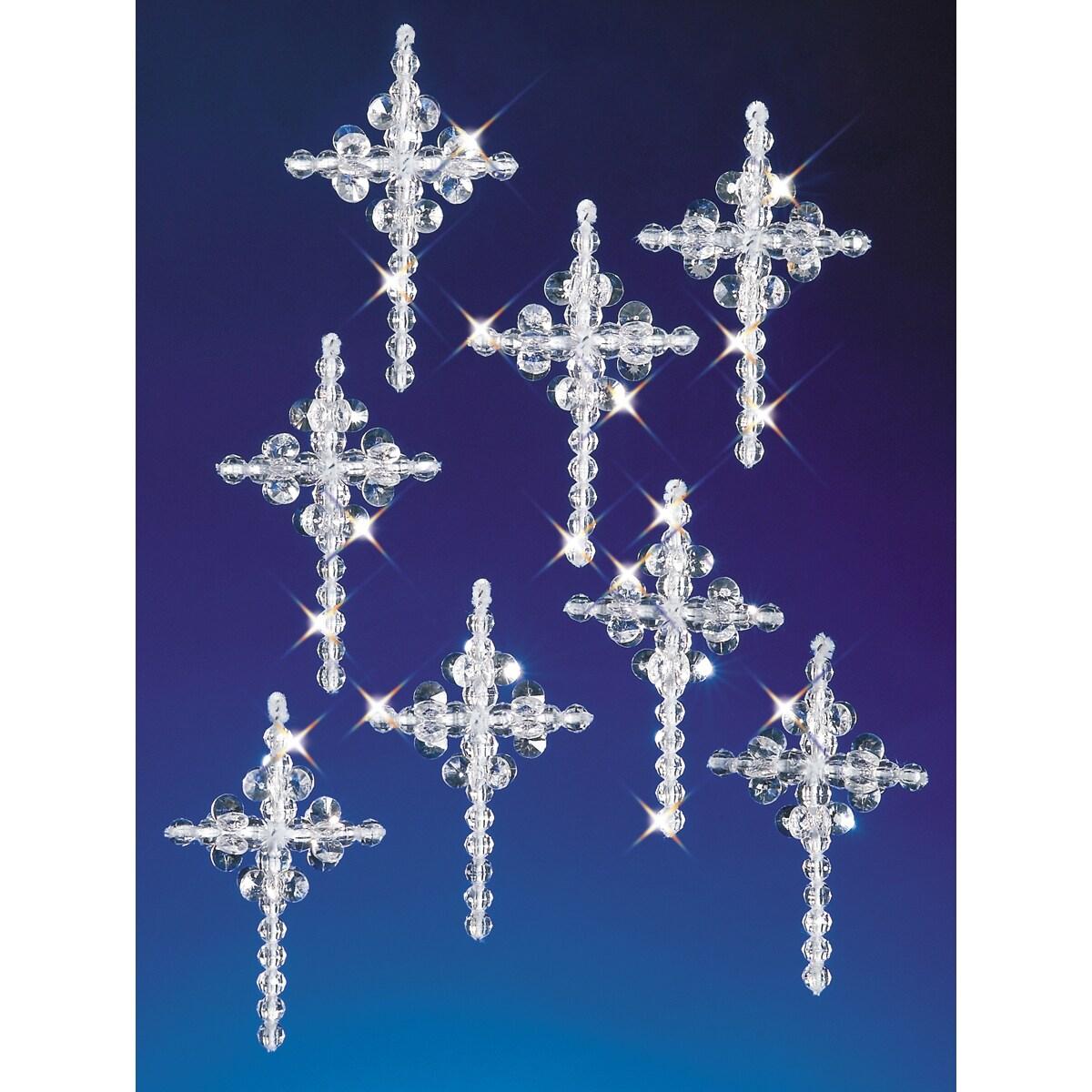 Crystal Crosses Holiday Beaded Ornament Kit