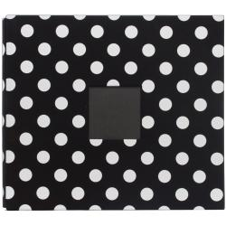American Crafts Black with White Polka Dots Patterned Postbound Album