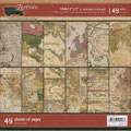 7 Gypsies Global Double-Sided Scrapbook Paper Pack - 48 Sheets