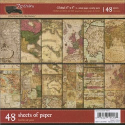 7 Gypsies Global Double-Sided Paper Pack 48 Sheets