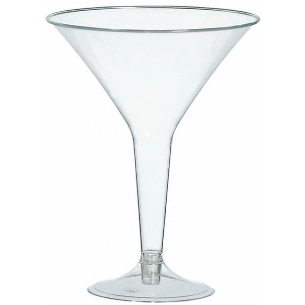 Amscan Clear Plastic Martini Glasses