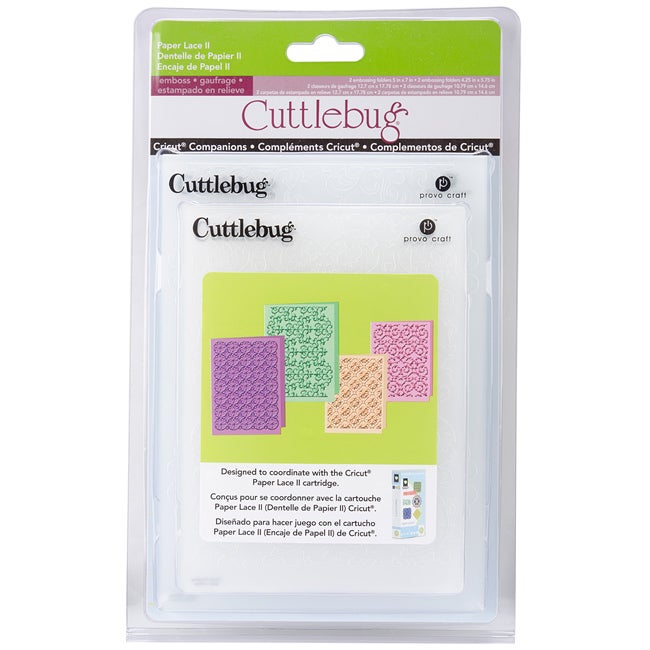 Cricut Companion Cuttlebug Paper Lace 2 Embossing Folder Bundle