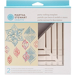 Martha Stewart 'Vintage Girl' Small Triangle Paper Ornament Template