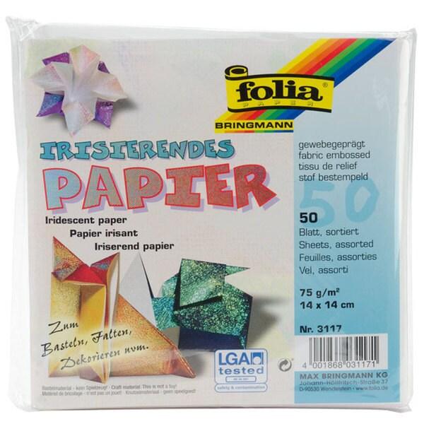 Bringmann Folia Multi Color Textured Iridescent Origami Paper 8729432