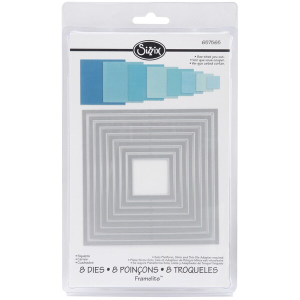 Sizzix Framelits Square Die Cuts Package of 8