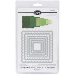 Sizzix Framelits Scalloped Squares Dies Package of 6