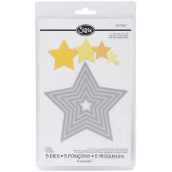 Sizzix Framelits Star Die Cuts Package of 5