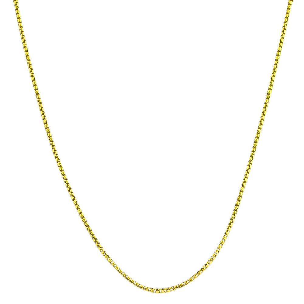 Fremada Gold over Silver 1.7-mm 18-inch Round Box Chain