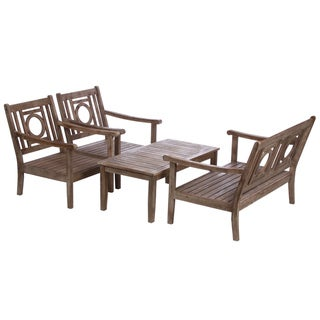 Renaissance Outdoor Hand-scraped 4-piece Conversation Set