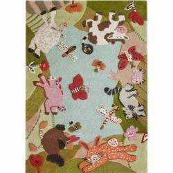 nuLOOM Handmade Kids Animal Farm Wool Rug (3'6 x 5'6)