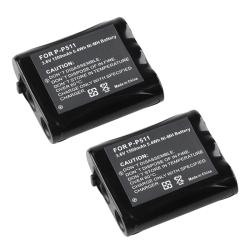 Compatible Ni-MH Battery for Panasonic P-P511 Cordless Phone (Pack of 2)