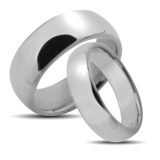 West Coast Jewelry Tungsten Carbide Polished Classic His and Hers Wedding Band Set