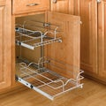 Small Two-Tier Chrome Wire Baskets